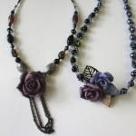 薔薇粘土のネックレス